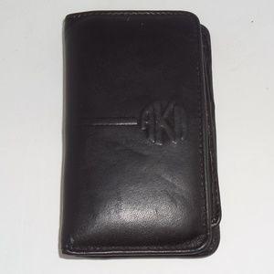 Anne Klein II Black Leather Cardholder Wallet